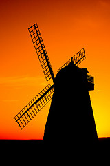 Hallnaker Windmill at Sunset by sage_solar